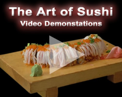 Eric demonstrates the art of making sushi